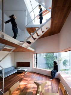 Another residential project from Japanese architects Suppose Design Office, who designed a house that is located in Sakuragawa, Japan. This family home has been designed to create a spacious interior with a limited floor plan. The building is located on a 50 square meter corner plot.