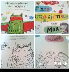 """Experiencia de aula: fichas de """"Crezco feliz"""" y del monstruo de colores. www.escueladecorazon.blogspot.com"""