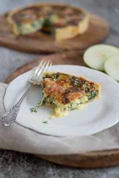 Quiche mit Spinat und Epoisses Vegetarian Comfort Food, Vegan Vegetarian, Snacks, Pizza, Catering, Brunch, Yummy Food, Favorite Recipes, Healthy Recipes