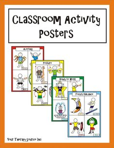 Classroom Activity Posters - Your Therapy Source