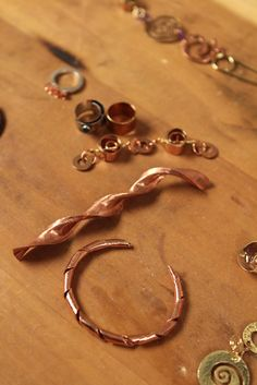 Behind the scenes from the video shoot for Metalsmith Essentials: Create Spirals, Tubes, and Other Curves for Jewelry Making with Helen. I Driggs.