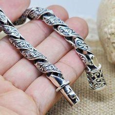 Men's Sterling Silver Ivy Bracelet #men'sjewelry #SterlingSilverDress #SterlingSilverBracelets