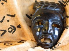 Wood mask from Africa.