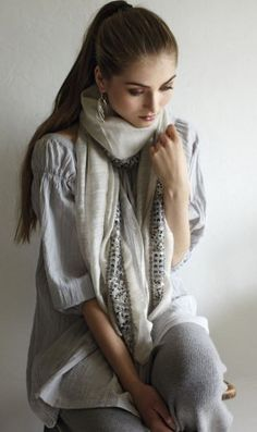 embroidered scarf by plumo