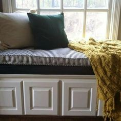 Custom Made French Tufted Window Seat Cushion