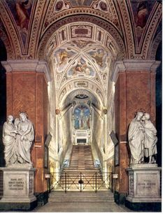 Scala Sancta, Lateran, Rome. Moved, encased, enclosure built during the papacy of Sixtus V, probably by Domenico Fontana; design and decoration by many artists.