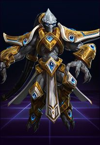 """TASSADAR SAVIOR OF THE TEMPLAR An executor without equal, Tassadar stood against the orders of the conclave, uniting with the Dark Templar, and fought valiantly to save Aiur from the zerg. Channeling the Khala and the Void, he destroyed the Overmind at the cost of his own life. In the glory of combat, protoss warriors forever invoke his name: """"En Taro, Tassadar!"""""""