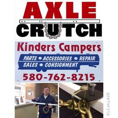 The AxleCrutch product line is now available at Kinders Campers and Trailers located just off U.S. 77 in Ponca City, OK at 2208 N. Ash. Stop in and see Shawn Rexford for all your towing, RV service and trailer part needs today! Mobile service available too!  At AxleCrutch Solutions, our team believes:  Our products provide innovative and reliable towing mobility  Our products allow you to maintain control of your time and money  Our products provide unmatched peace of mind when towing