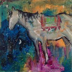 """Gypsy Soul"" 12x12 acrylic painting by Caren Goodrich"