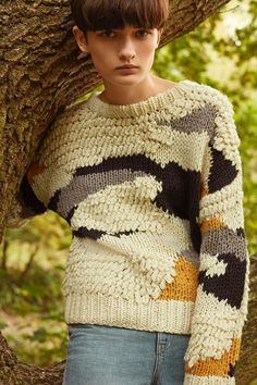 Hand Knitted Patchwork Jumper