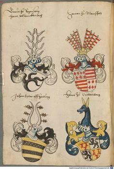 Wappen deutscher Geschlechter Augsburg ?, 4. Viertel 15. Jh. Cod.icon. 311 Folio 56v