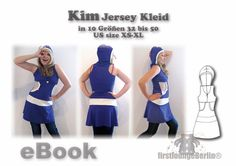 E-Books & Anleitungen - KIM♥ eBOOKKapuzen-Kleid Nähanleitung Schnittmuster - ein Designerstück von Grueezi bei DaWanda