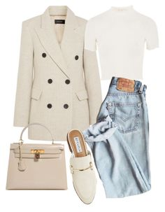 """Untitled #22356"" by florencia95 ❤ liked on Polyvore featuring Isabel Marant, Topshop, Hermès and Steve Madden"