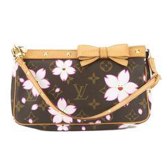 Louis Vuitton Rose Cherry Blossom Monogram Pochette Accessoires Bag (Authentic Pre Owned) - Pochette / Rose / 1 Payment