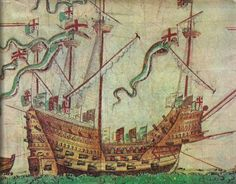 The Mary Rose, Henry VIII's flagship.