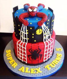 Spider-Man Cake  By www.facebook.com/peace.o.cake.cakes