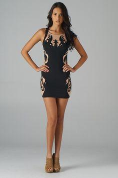 Lavishville - Embroidered Mesh Insets Colorblock Dress (Black), $49.00 (http://www.lavishville.com/embroidered-mesh-insets-colorblock-dress-black/)