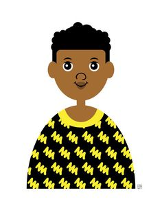 Items similar to Boy Art Print, (Cute Black Children's Art, Boy in Yellow and Black Sweater) on Etsy 3 Arts, Boy Art, Black Kids, Black Sweaters, Paper Dolls, Little Boys, Art Prints, Yellow, Unique Jewelry