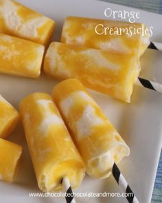 Orange Creamsicles-Orange juice and Ice Cream-perfect for cooling off on a hot day! | ChocolateChocolateAndMore.com | #dessert_recipes #kid_friendly #snack_recipes