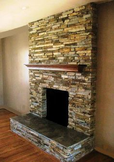 White Quartz Stacked Stone Fireplace Awesome Set Fireplace On White Quartz Stacked Stone Fireplace - Mapo House and Cafeteria Home Fireplace, Fireplace Remodel, Fireplace Design, Fireplace Mantels, Fireplace Makeovers, Stone Fireplace Surround, Stacked Stone Fireplaces, Rock Fireplaces, Stacked Rock Fireplace