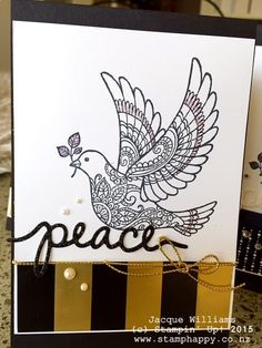 stampin up dove of peace wonderland quick simple