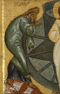 Иконописцы Detail from icon of the Transfiguration - Elijah