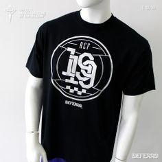 Camiseta Black Gen RCF 13-14. - Camiseta Black Gen oficial de Racing Club de Ferrol para la temporada 2013/2014, de la marca propia DEFERRO. Club, Mens Tops, T Shirt, Black, Fashion, Self Branding, Seasons, T Shirts, Supreme T Shirt