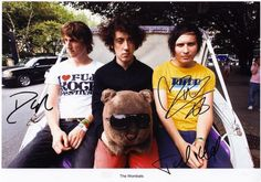 The Wombats Signed Autographed Photo Print Poster The Wombats, My Best Friend, Bands, Nerd, Print Poster, Signs, A4, Musicians, Art Ideas