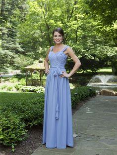 Pretty A-line natural waist chiffon bridesmaid dress $248.00 (173) #novia #vestido #boda