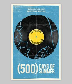 500 Days Of Summer poster by WilliamHenryDesign on Etsy