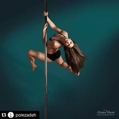 What a beautiful action shot!  #Repost @polezadeh ・・・ I feel free, safe, proud and confident when I pole dance. Who else feels that way?  Thanks to @michael_hewitt_photography for capturing the raw emotions in this photo. #polestrong #strongandfree #poleathlete #poledancenation #aerialistsofig #ottawapolefitness #badkittypride #poleart #poledanceart  #poledancersofig #igfitfam #sexyfit