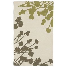 Sakura Wool Rug - Ivory // West Elm // Zen underfoot. Silhouettes of Japanese cherry blossoms in neutral tones create subtle visual appeal and bring a quiet, meditative sensibility to any room.