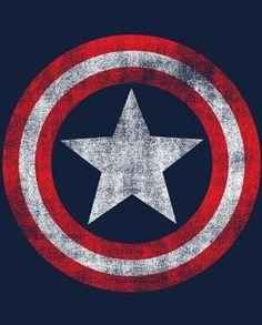 Marvel Captain America Distressed Shield T-Shirt #transformer
