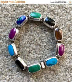 Mexican Vintage Handcrafted Bezel Set Sterling Silver by Pastfinds