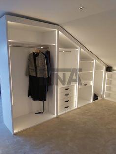 Attic Bedroom Closets, Small Bedroom Wardrobe, Attic Bedroom Storage, Attic Bedroom Designs, Attic Wardrobe, Loft Storage, Attic Closet, Bedroom Closet Design, Attic Rooms