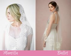 Mantilla and Ballet Veils | www.onefabday.com
