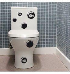 Sticker WC trous vivant | Fanastick.com Sticker Wc, Stickers Citation, Bathroom Accessories, Creative, Washroom, Vinyls, Wall Decals, Bathroom Fixtures