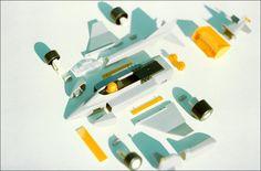 "Proteus - ""transformobile"" toy set - 1. The whole set. Created by romanian designer Catalin Urcan for ""Viitorul"" Enterprise (now, Plastor) - city Oradea, Romania in 1985-1988"