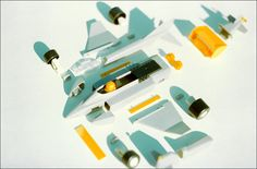 "Proteus - ""transformobile"" toy set - 1. The whole set. Created by romanian designer Catalin Urcan for ""Viitorul"" Enterprise (now, Plastor) - city Oradea, Romania in 1985-1988"