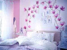 decorazioni-per-pareti-con-una-foto-dei-fiori-di-colore-rosa-e-bianco-muro-e-foto.-La-camera-da-letto-sarà-elegante.jpg (791×596)