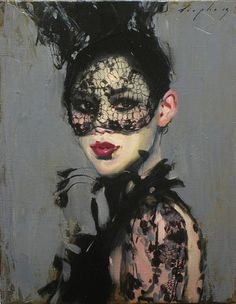 Malcolm Liepke, Behind the Mask 2014, oil on canvas