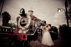 Arrival by vintage steam locomotive and a ceremony in a red-brick station building, makes a wedding truly unique. Visit Rovos Rail for more information! Most Romantic, Romantic Weddings, Destination Weddings, Locomotive, Wedding Venues, Wedding Photos, Old World Charm, Train Rides, First Dance
