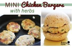 Mini Chicken Burger with Herbs Recipe - Kid-friendly, healthy and tasty!