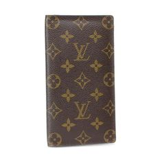 Louis Vuitton Porte Valeurs Cartes Credit Monogram Wallets Brown Canvas M61823