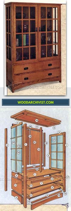 Arts and Crafts Hutch Plans - Furniture Plans and Projects | WoodArchivist.com