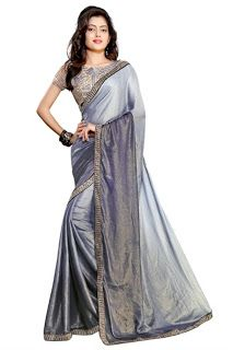 Online Shopping: Crepe fabric saree with zari and sequence work in ...