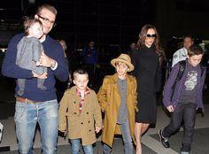 Victoria and David Beckham Harper
