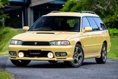 Subaru Legacy GT-B Touring Wagon (BD) ::Terrible colour but awesome body shape! Jdm Subaru, Subaru Cars, Jdm Cars, Subaru Legacy Wagon, Subaru Wagon, Subaru Liberty Wagon, Beast From The East, Wagon Cars, Car Camper