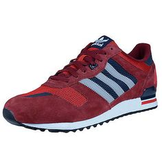 newest 3c646 aba5d ADIDAS ZX 700 RETRO RUNNING SHOES CORE BURGUNDY GREY SCARLET M19390 SIZE  11.5