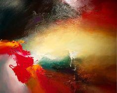 Grande peinture abstraite par Dan Bunea: Someday par danbunea